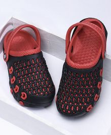 A-HA Clogs With Back Strap - Red Black