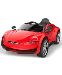 GetBest Battery Operated Tesla Ride On Car - Red