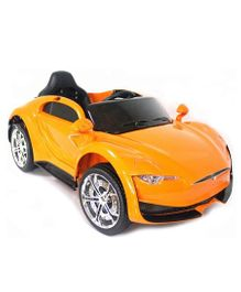 GetBest Battery Operated Tesla Ride On Car - Orange