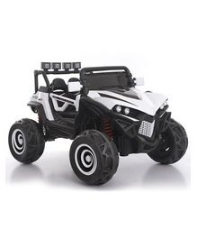 Getbest Battery Operated 12V Monster Truck Ride On Jeep - White Black