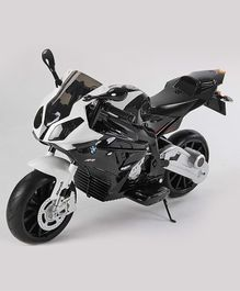 GetBest Officially Licensed BMW S 1000 RR Battery Operated Ride on Bike - White & Black