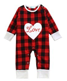 Pre Order - Awabox Love Design Patch Full Sleeves Romper - Red