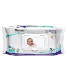 Himalaya Herbal Gentle Baby Wipes - 72 Pieces