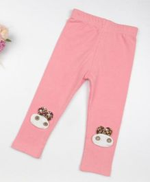 Pre Order - Wonderland Animal Applique Full Length Leggings - Pink