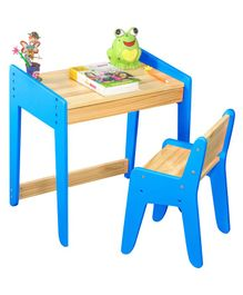 Alex Daisy Neo Wooden Study Table & Chair Set - Blue