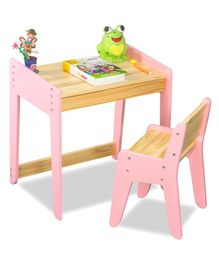 Alex Daisy Neo Wooden Study Table & Chair Set - Pink