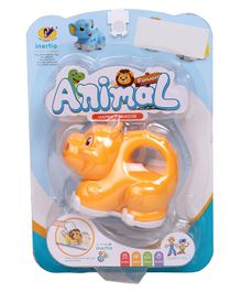 Baby Animal Friction Toy - Yellow