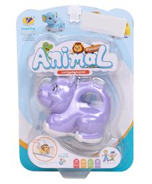Baby Animal Friction Toy - Purple