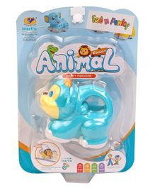 Baby Animal Friction Toy - Light Blue