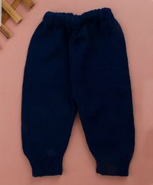 Buttercup From KnittingNani Full Length Solid Pants - Navy Blue