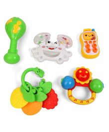 Musical Baby Rattle Pack of 5 - Multicolor