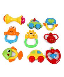 Baby Rattle Set of 9 - Multicolour