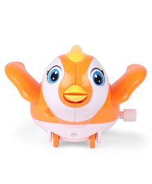 Bird Shaped Wind Up Toy - Orange
