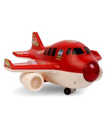 Airplane Toy With Light & Music - Red