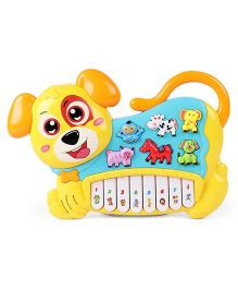 Musical Puppy Shaped Piano - Yellow