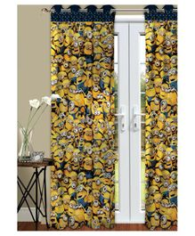 Athom Trendz Minions Kids Long Door Curtain Pack of 2 - Yellow