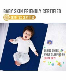 Quick Dry Plain Baby Care Sheet Cobalt Blue - Medium