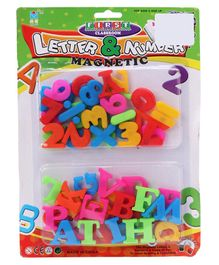Magnetic Letters & Numbers 53 Pieces - Colour May Vary