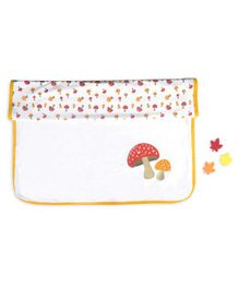 Beebop Double Layered Reversible Blanket Mushroom Print - Yellow