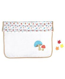 Beebop Double Layered Reversible Blanket Mushroom Print - Light Brown