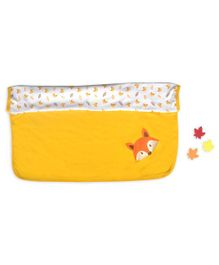 Beebop Double Layered Reversible Blanket Fox Print - Yellow