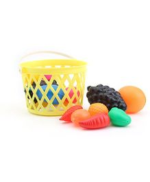 Luvely - Fruits With Basket Multi Colour