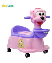 1st Step Baby Potty Chair With Wheels - Pink