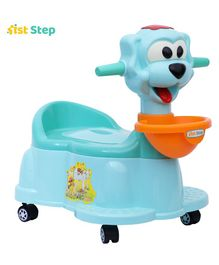 1st Step Baby Potty Chair With Wheels - Aqua Blue