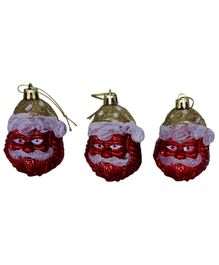 Funcart Santa Claus Shape Hanging Decor Pack of 3 - Red