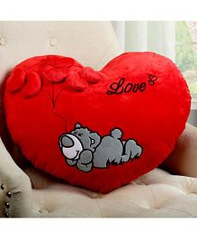 Frantic Heart Shape Cushion - Red