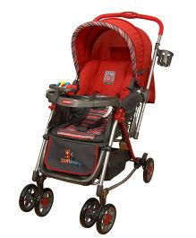 Sunbaby Rocking Stroller With Full Net SB300C - Red