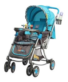 Sunbaby Rocking Stroller with Mosquito Net 300 C - Blue
