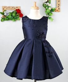 Mark & Mia Small Flowers & Pearls Embellished Sleeveless Dress - Navy