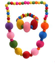 Needy Bee - Multicolor Necklace With Bracelet
