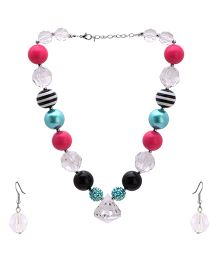 NeedyBee - Water Transparent Pearl Necklace With Earings