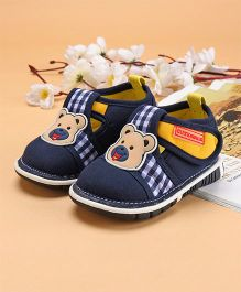 Cute Walk by Babyhug Casual Shoes Bear Patch - Navy Blue