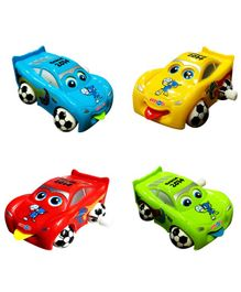 Emob Wind Up Car Toys Multicolour - Pack of 4