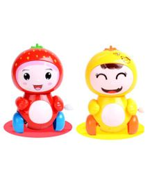 Emob Strawberry & Banana Friction Powered Wind Up Toy Red & Yellow - Pack of 2