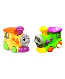 Emob Train Engine Wind Up Toy Yellow & Green - Pack of 2