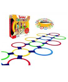Emob Twister Hopscotch With Rings & Spinner Party Board Game - Multicolor