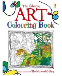 Usborne- Art Colouring Book