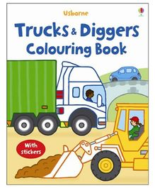 Usborne - Trucks And Diggers Coloring Book
