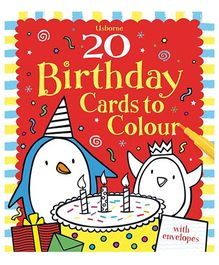 Usborne - Usborne 20 Birthday Cards To Color