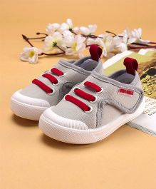 Cute Walk by Babyhug Canvas Shoes - Light Grey