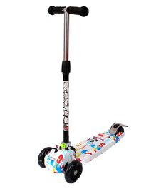 Cosmic Graffiti 3 Wheel Scooter With Music & LED Lights - White