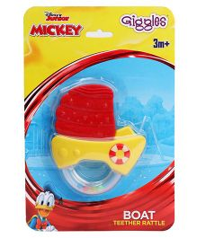 Disney Giggles Boat Shaped Teether Rattle - Red