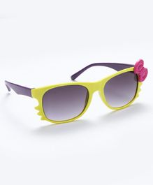 Babyhug Girls Sunglasses Bow Applique - Yellow