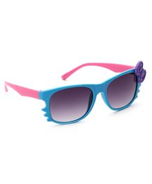 Babyhug Girls Sunglasses Bow Applique - Blue