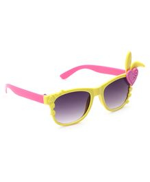 Babyhug Girls Sunglasses Heart Applique - Yellow