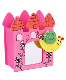 Wooden Pencil Stand With Mirror Snail Design - Pink e08c8848b2